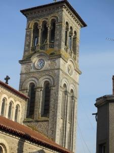 L'église de Clisson, la petite capitale du Muscadet 'Sèvre-et-Maine'.
