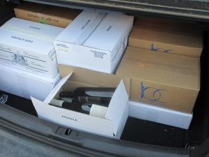 Quelques bouteilles ont trouvé leur chemin vers le coffre de ma voiture...