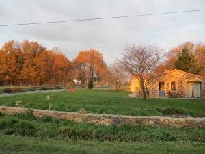 La Maison des Landes, au soleil couchant