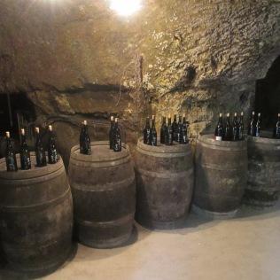 dans les caves de La Chevalerie