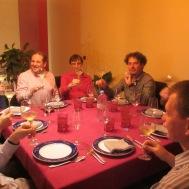 les invités en début de soirée