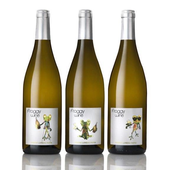 3 déclinaisons graphiques de Froggy Wine